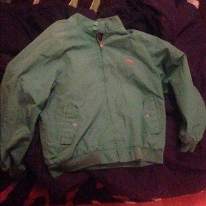 Lacoste vintage green jacket size large